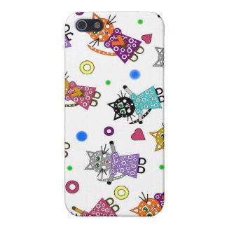 Caso flotante de Iphone de los gatos iPhone 5 Coberturas