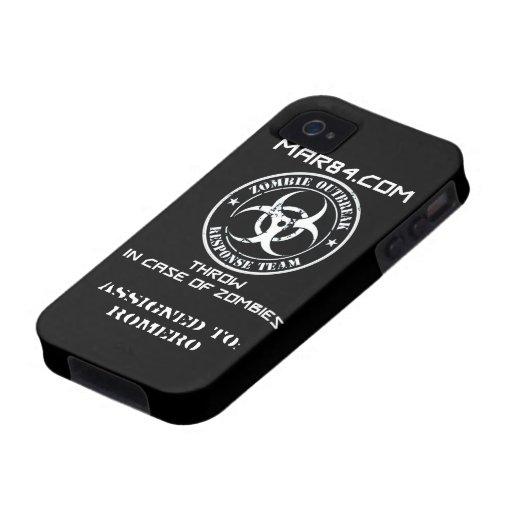 Caso FLR del iPhone del EQUIPO de la RESPUESTA del iPhone 4 Carcasas