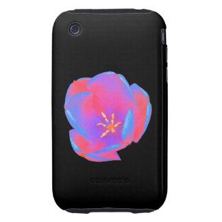 Caso fluorescente del iPhone 3 del tulipán iPhone 3 Tough Protectores