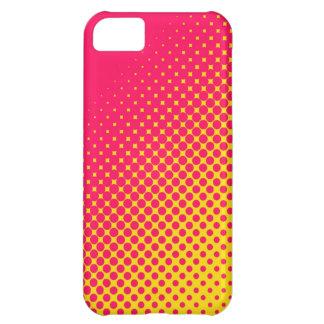 Caso fluorescente del iPhone 5 de los puntos del r