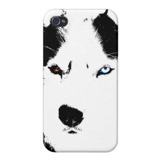 Caso fornido del Malamute del husky siberiano del iPhone 4 Carcasa