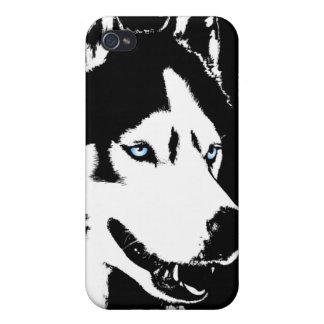 Caso fornido del Malamute del husky siberiano del iPhone 4 Fundas