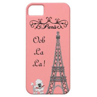 Caso francés de IPhone 5 del caniche de París de iPhone 5 Carcasa