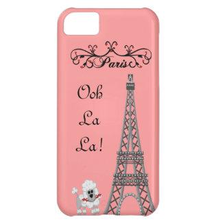 Caso francés de IPhone 5 del caniche de París de O Funda Para iPhone 5C