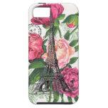 Caso francés de los rosas de la torre Eiffel iPhone 5 Case-Mate Carcasa