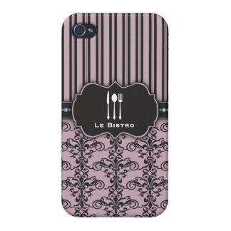 Caso francés del cocinero del restaurante del dama iPhone 4/4S carcasa