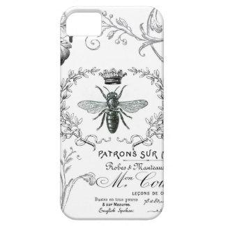 Caso francés del iphone 5 de la abeja reina del vi iPhone 5 Case-Mate carcasa