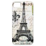 Caso francés del iphone 5 de la torre Eiffel del v iPhone 5 Fundas