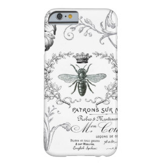 Caso francés del iPhone 6 de la abeja reina del Funda Para iPhone 6 Barely There