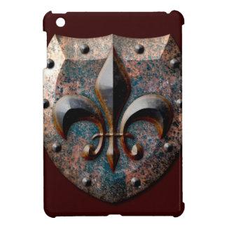 Caso fresco de Ipad del metal rústico del escudo