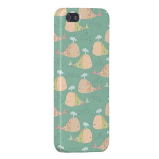 Caso fresco de Iphone 5 del modelo de las ballenas iPhone 5 Funda