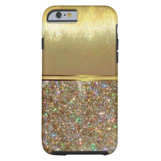 Caso fresco del diseño del oro de Shell del iPhone Funda Resistente iPhone 6