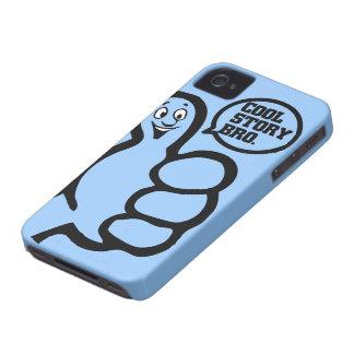 Caso fresco del iPhone 4 de Bro de la historia iPhone 4 Case-Mate Cárcasas