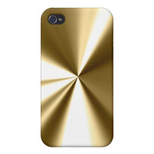 Caso fresco del iPhone 4 del metal del oro iPhone 4 Coberturas