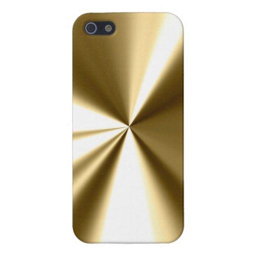 Caso fresco del iPhone 5 de la mirada del metal iPhone 5 Carcasa