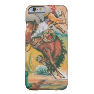 caso fresco del iPhone 6 del vaquero y del caballo Funda De iPhone 6 Barely There