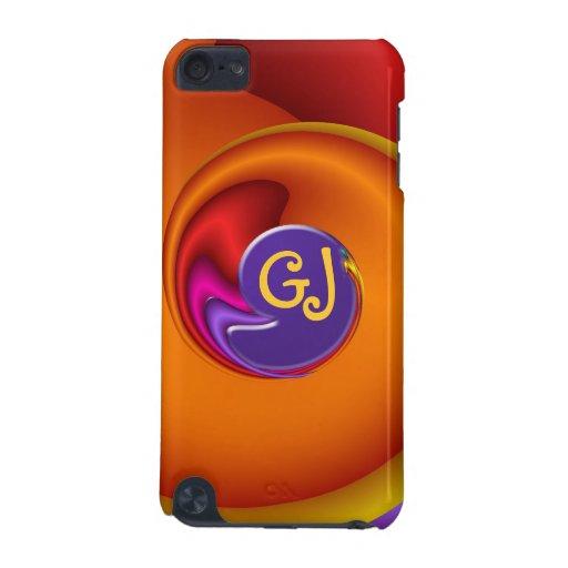 Caso fresco del tacto de iPod del fractal con el m Funda Para iPod Touch 5G