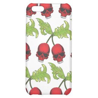 Caso frondoso del iphone de los cráneos rojos de l