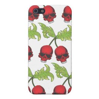 Caso frondoso del iphone de los cráneos rojos de l iPhone 5 protector