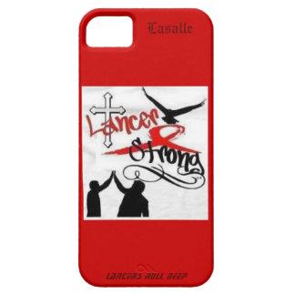 Caso fuerte de Lasalle IPhone del lancero Funda Para iPhone 5 Barely There