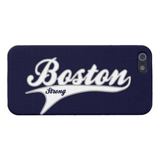 Caso FUERTE del iPhone 5 de BOSTON Swoosh iPhone 5 Fundas