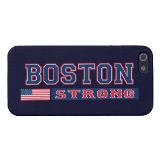 Caso FUERTE del iPhone 5 de la bandera de BOSTON L iPhone 5 Carcasas