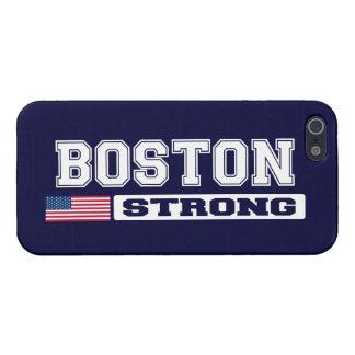Caso FUERTE del iPhone 5 de la bandera de BOSTON L iPhone 5 Fundas