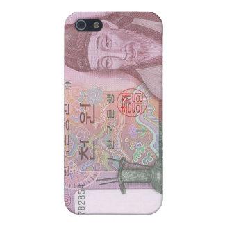 Caso ganado del iPhone de la moneda 1000 surcorean iPhone 5 Funda