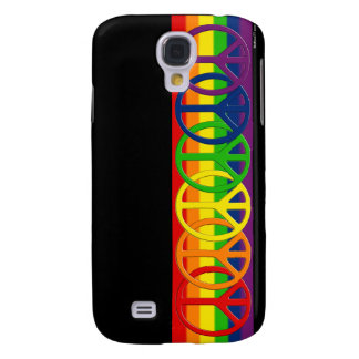 Caso gay de HTC de la paz del arco iris Funda Para Galaxy S4