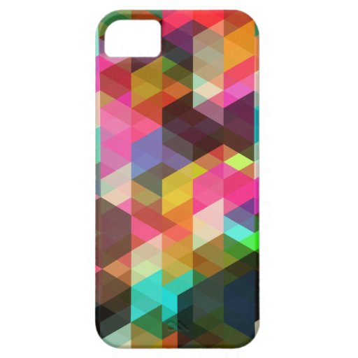 Caso geométrico abstracto del iPhone iPhone 5 Case-Mate Protectores
