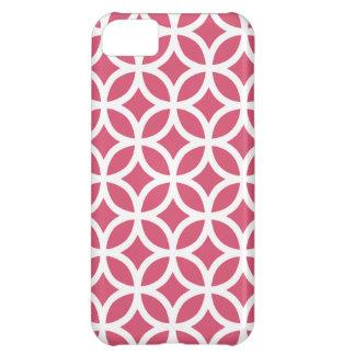 Caso geométrico de Iphone 5 del rosa de la madrese