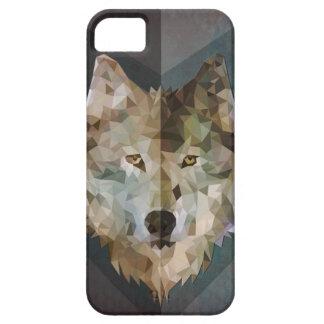 Caso geométrico de Iphone del lobo Funda Para iPhone SE/5/5s