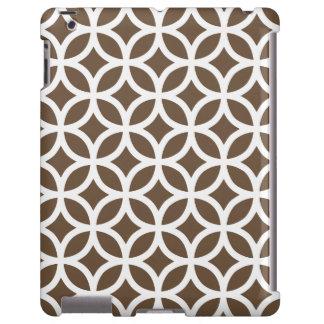 Caso geométrico del iPad 2/3/4 de Brown de la garr