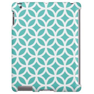 Caso geométrico del iPad 2/3/4 de la turquesa