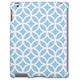 Caso geométrico del iPad 2/3/4 del azul de cielo
