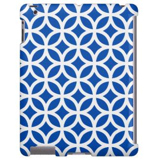 Caso geométrico del iPad 2/3/4 del azul de cobalto