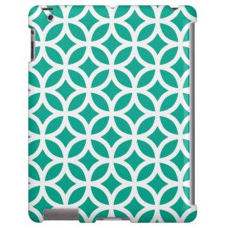 Caso geométrico del iPad 2/3/4 del verde esmeralda