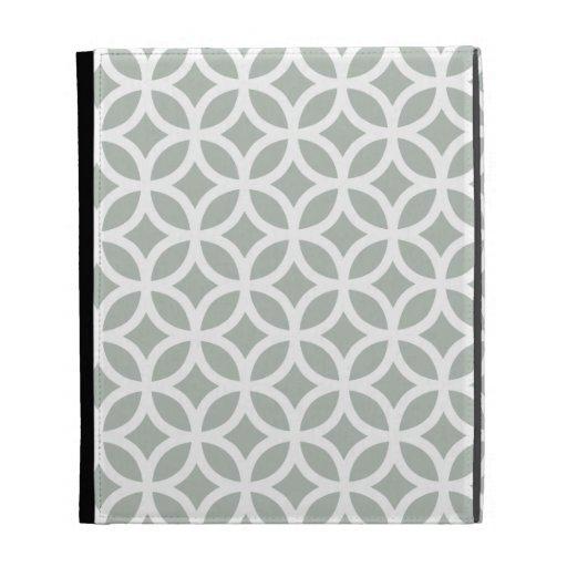 Caso geométrico del iPad de los gris plateados