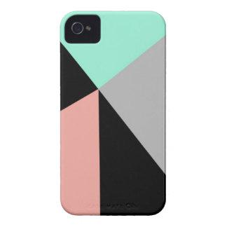 Caso geométrico del iPhone 4/4S de la menta y del  iPhone 4 Case-Mate Cárcasa