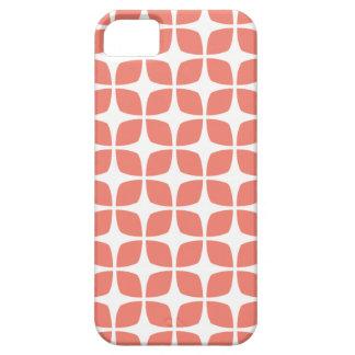Caso geométrico del iPhone 5 5S en coral iPhone 5 Case-Mate Carcasa