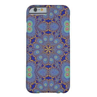 Caso geométrico del iPhone 6 del pavo real azul Funda Para iPhone 6 Barely There