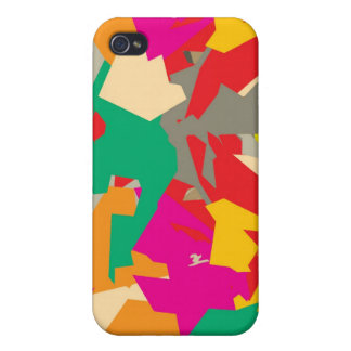 Caso geométrico del iPhone de Howell Camo iPhone 4 Carcasa