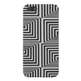 Caso geométrico del iphone de la ilusión abstracta iPhone 5 carcasas