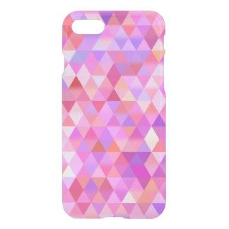 Caso geométrico rosado bonito del iPhone del claro Funda Para iPhone 7