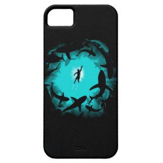 Caso gigante del iphine del pulpo del tiburón mega funda para iPhone SE/5/5s