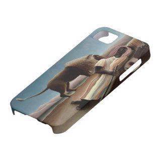 Caso gitano del iPhone el dormir de Rousseau iPhone 5 Case-Mate Cárcasa