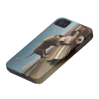 Caso gitano del iPhone el dormir de Rousseau iPhone 4 Funda