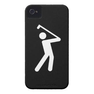 Caso Golfing del iPhone 4 del pictograma iPhone 4 Fundas