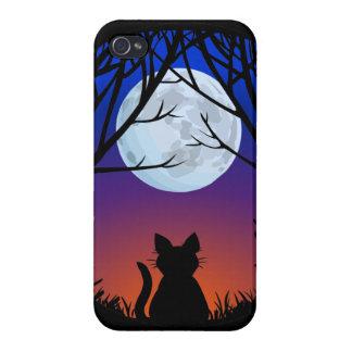 Caso gordo de Smartphone del amante del gato del c iPhone 4 Fundas