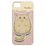 Caso gordo del iPhone 5 del gato iPhone 5 Case-Mate Protectores